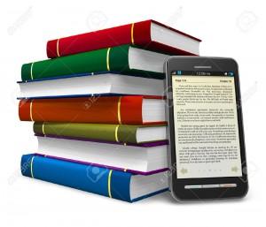 10816406-Smartphone-et-pile-de-livres-de-couleur-isol-sur-fond-blanc-Banque-d'images
